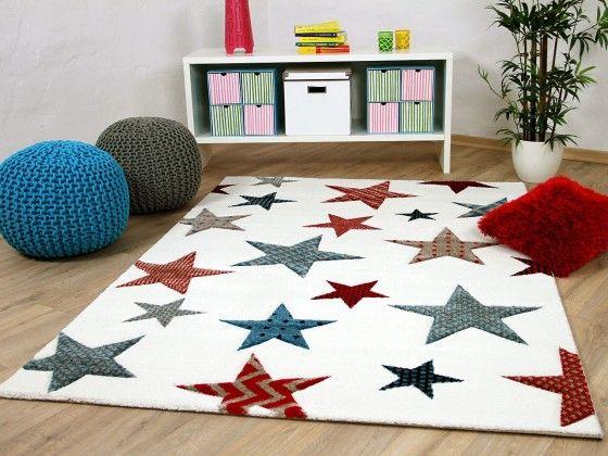 Kinder und Jugend Teppich Maui Creme Sterne Bunt Kinder Pinterest - wohnzimmer creme rot