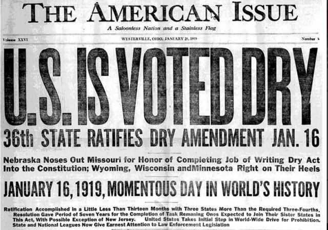 Image result for prohibition headlines