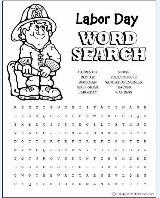 Printables Labor Day Worksheets 1000 images about labor day on pinterest activities word search and labor