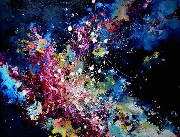Artista com sinestesia transforma sons em splashes de cor/ Synesthetic art by Melissa McCracken > Radiohead – Lucky