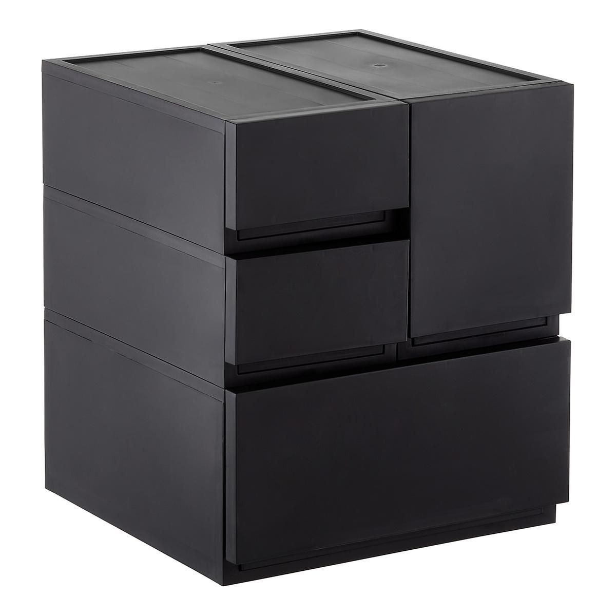 bin drawer stacked organizer storage stackable sterilite designs plastic drawers single stacking stackab