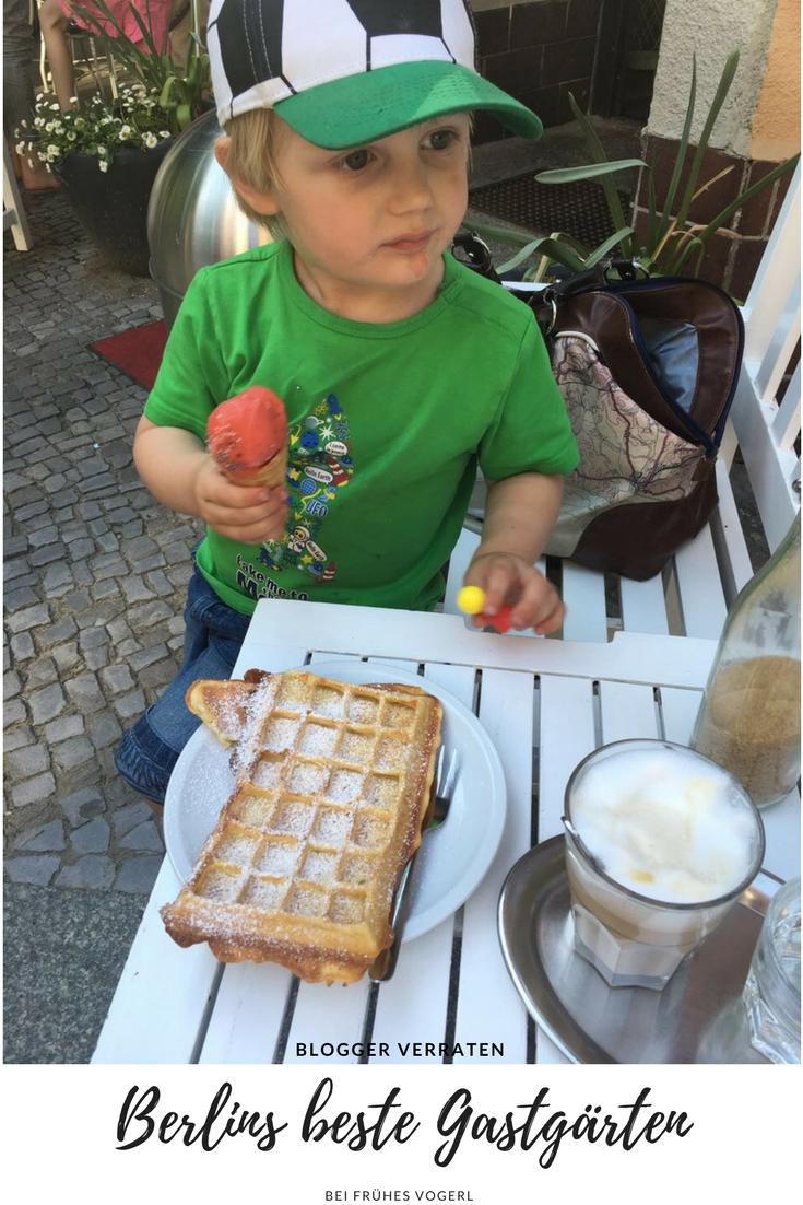 10 Blogger erzählen bei Frühes Vogerl, wo Berlins schönste Gastgärten sind.
