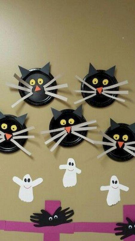 55 süße Halloween Bastelideen für Kinder & Kleinkinder - Bastelideen Kinder #halloweencraftsforkids