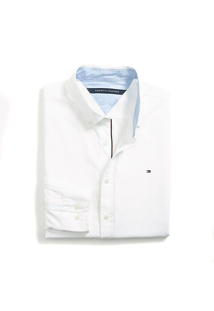 e198c52e8 Tommy Hilfiger Men's Custom Fit Oxford Shirt $15 + Free Shipping ...