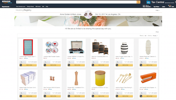 5 Things You Need To Know About Setting Up An Amazon Registry Wedding Registry Wording Amazon Wedding Registry Online Wedding Registry