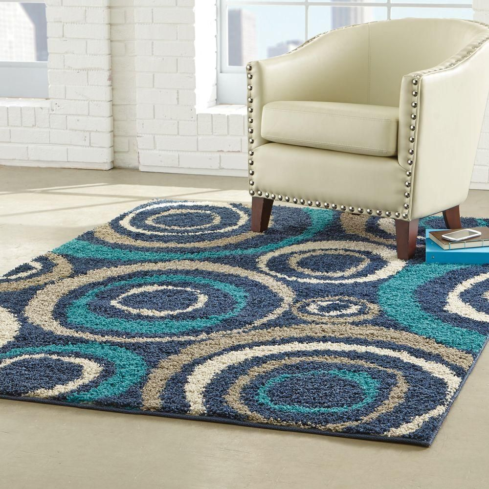Home Decorators Collection Orbit Teal 7 Ft 10 In X 10 Ft Area Rug Area Rugs Home Decorators Collection Rugs