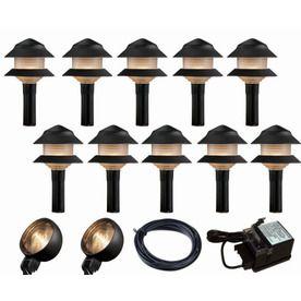 Portfolio 12-Light Black Low Voltage Path Light Kit $69.88