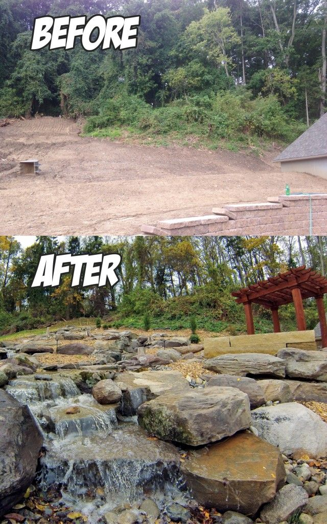 Amazing Outdoor Living Water Feature Project Before After