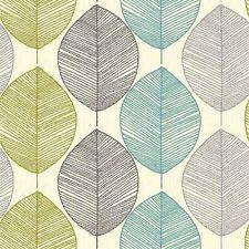 papier peint motif feuille retro art maison couleur. Black Bedroom Furniture Sets. Home Design Ideas