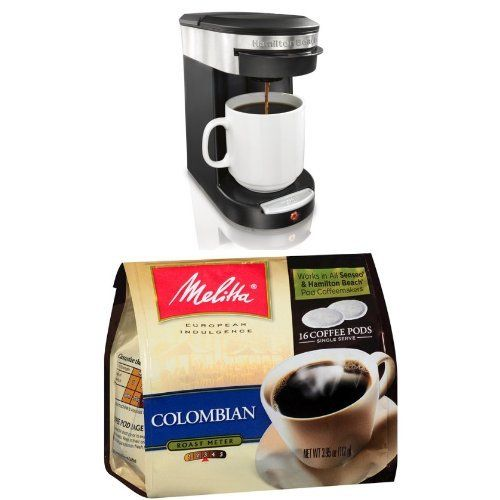 Hamilton Beach 49970 Personal Cup One Cup Pod Brewer And Melitta