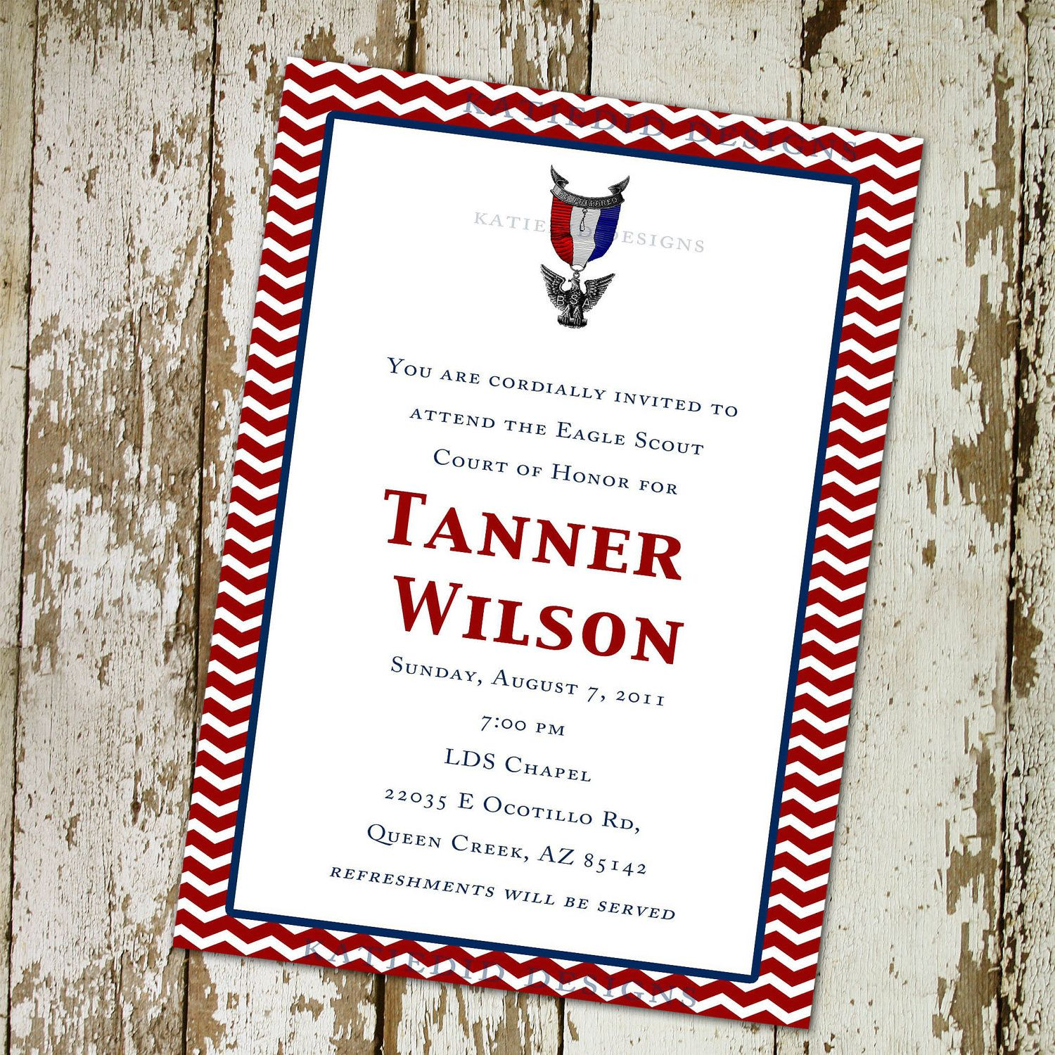 I Love This One Eagle Scout Court Of Honor Invitation Or