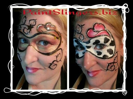 Cowboy and cowgirl face painting designs www.PaintSlingers.biz