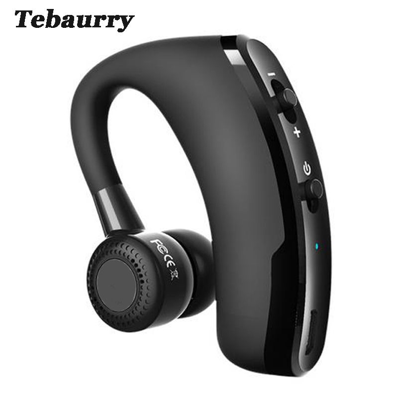 30db1c96b51 Tebaurry V9 Handsfree Business Bluetooth Headset With Mic Voice Control Wireless  Bluetooth Earphone Headphone Sports for