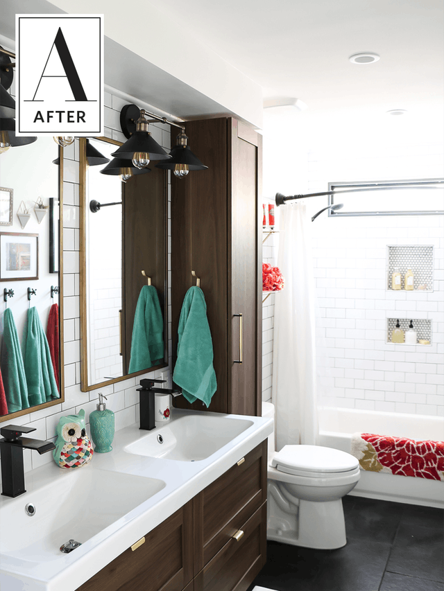 Before And After An 80s Bathroom Gets A Classic Update Bathrooms Remodel Shabby Chic Bathroom Stylish Bathroom