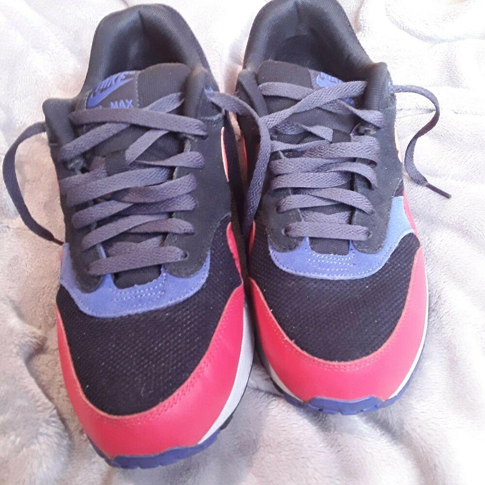 47cd0aaaab Nike Air Max 1 Essential Black Hyper Crimson Men Sneakers 537383 017 Size  9.5 #Nike #RunningCrossTraining
