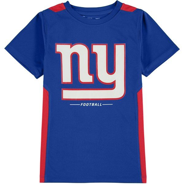 c93fba6c1 New York Giants NFL Pro Line by Fanatics Branded Youth Team Lockup  Colorblock T-Shirt