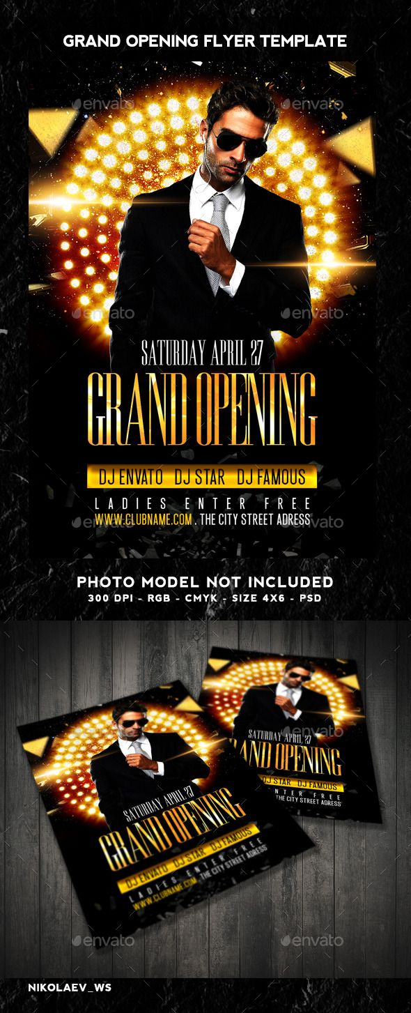 Grand Opening Flyer  Grand Opening Flyer Size And Font Logo