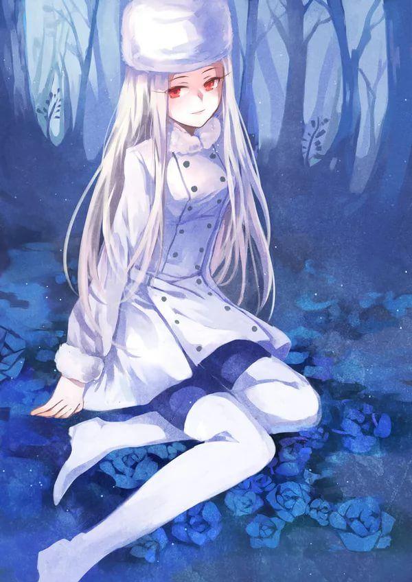 Anime Devushki S Belymi Volosami I Krasnymi Glazami 10 Tys
