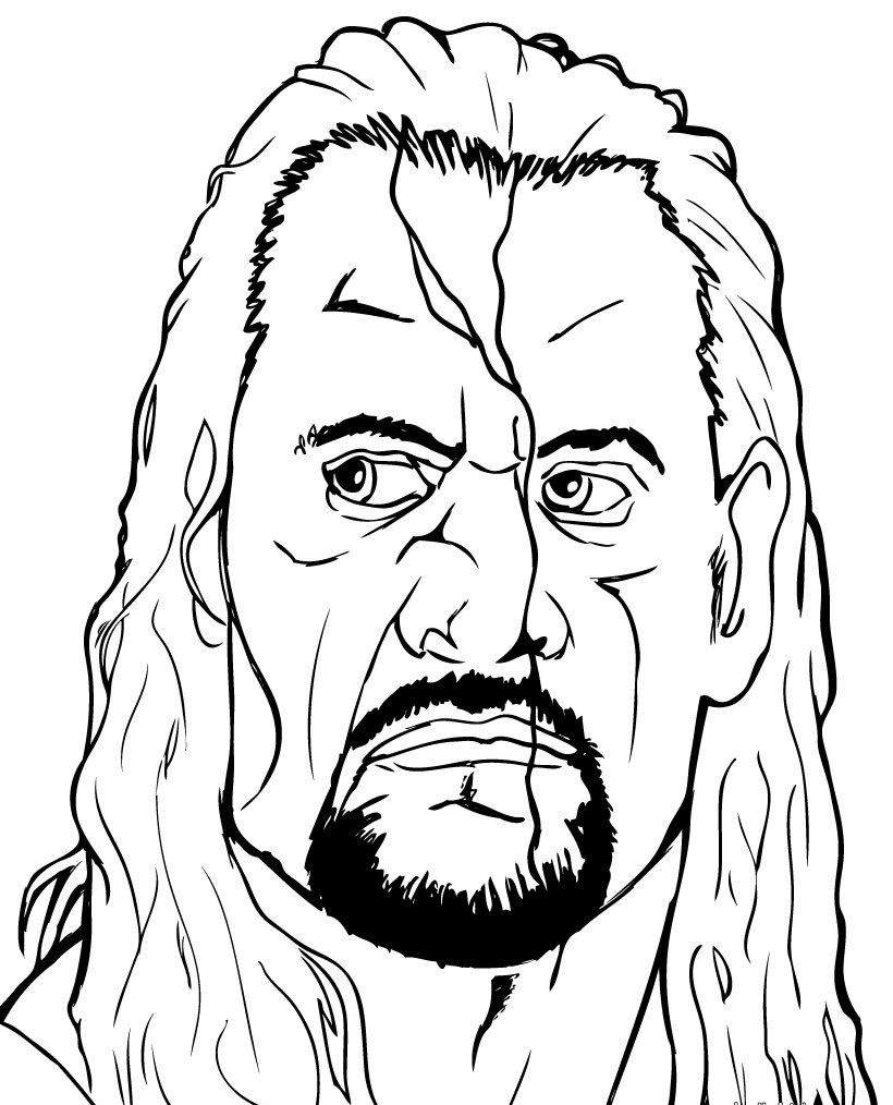 Wwe Goldberg Coloring Pages