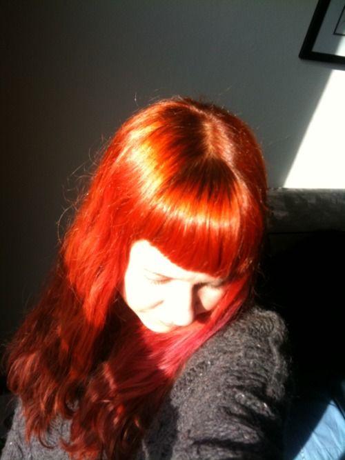 Red Shiny Crowning Glory Hair Henna Hair Bleached Hair