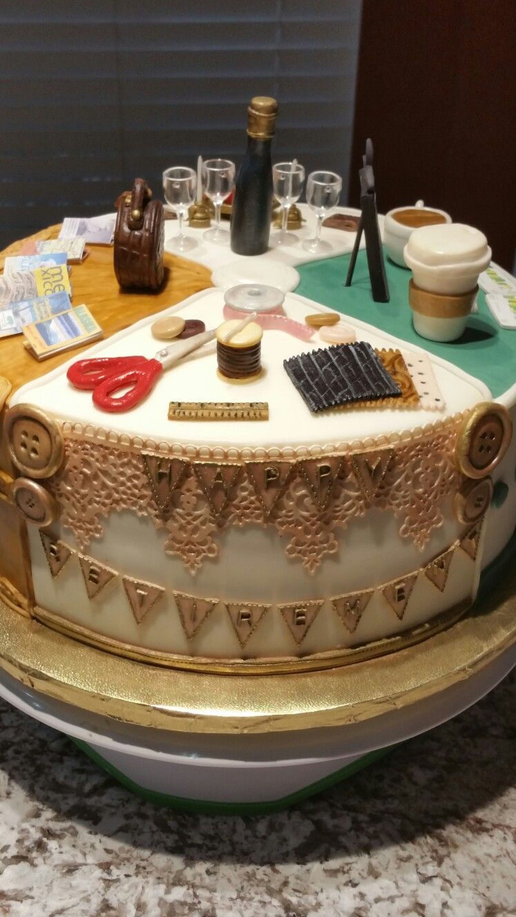 Retirement cake crafts section