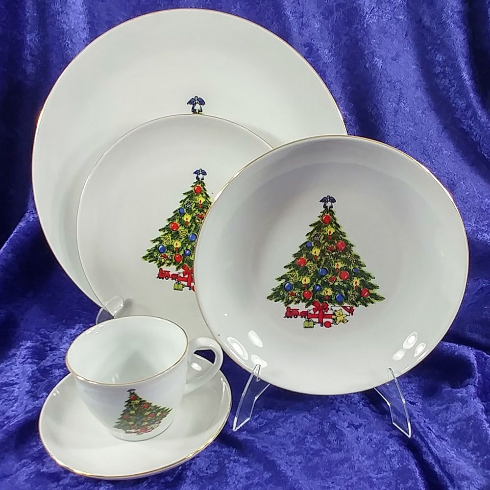 Jamestown China Christmas Treasures 20 Piece Dinnerware Set Action Industries & Jamestown China Christmas Treasures 20 Piece Dinnerware Set Action ...