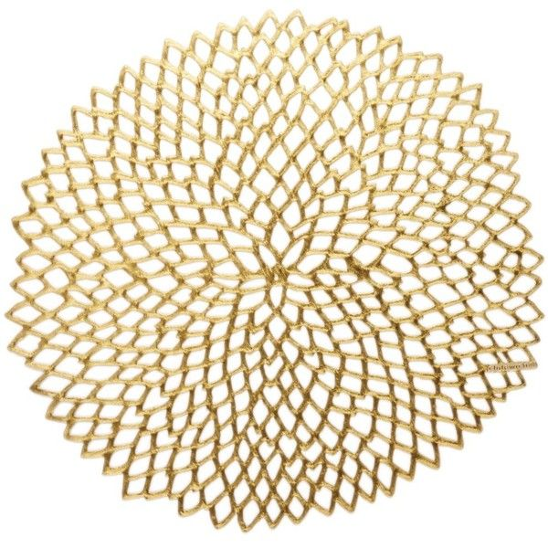 Chilewich Dahlia Pressed Vinyl Round Placemat 14 X 19 11 Liked On Polyvore Placemats Eclectic Placemats Chilewich