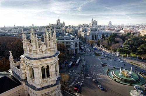 Madrid Desde La Terraza Del Palacio De Cibeles Madrid