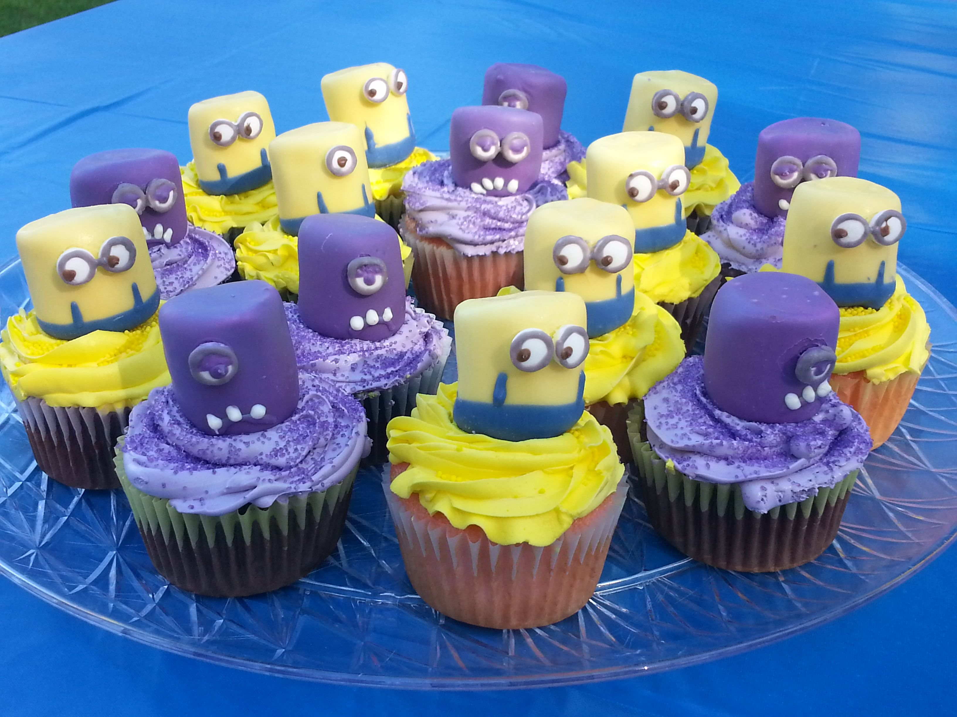 Despicable Me birthday cupcakes for my little Minion