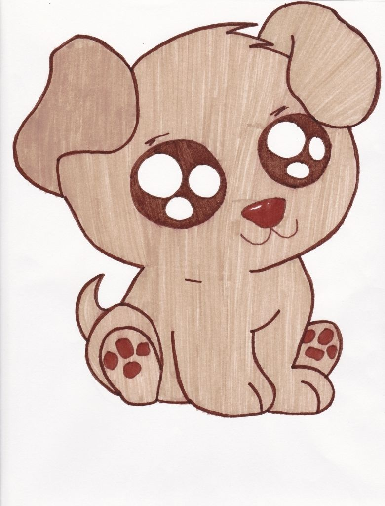 How To Draw A Cute Puppy Best Photos Of Easy Cute Cartoon Puppy Drawing Cute Puppy Cute Dog Drawing Cute Drawings Tumblr Cute Drawings