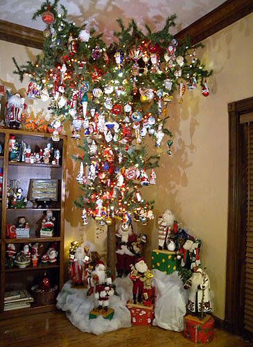 17 Best images about Hanging Christmas Trees ~~ on Pinterest | Christmas  trees, Peacock christmas tree and Gothic