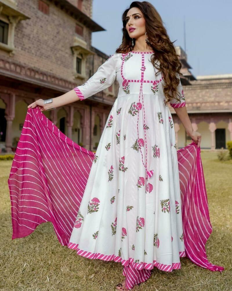 Indian Women Kurti with palazzo dupatta Combo Set Ethnic Dress designer kurtis