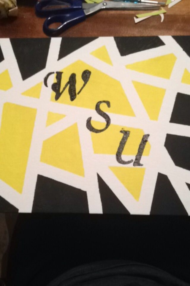 Wichita state shocker canvas wall decor. Super easy to make and can ...