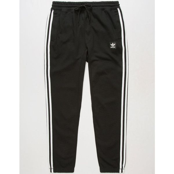 983019a56 Adidas 3 Stripe Blackbird Mens Sweatpants ($31) ❤ liked on Polyvore  featuring men's fashion