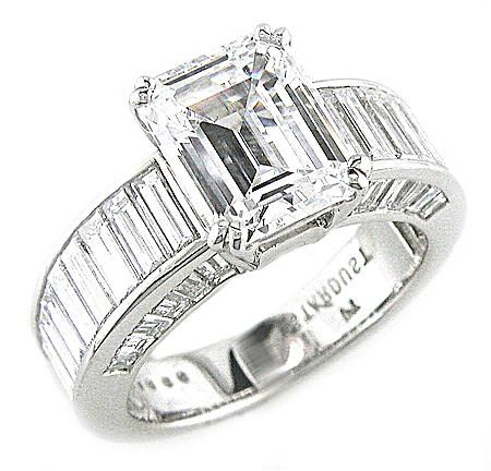 ChanelSet Baguette Engagement Ring Stardust Diamonds Engagement