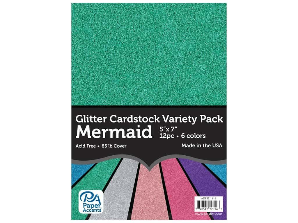 Glitter Cardstock Variety Pack 5 X 7 In Mermaid 12 Pc Glitter Cardstock Glitter Paper Card Stock