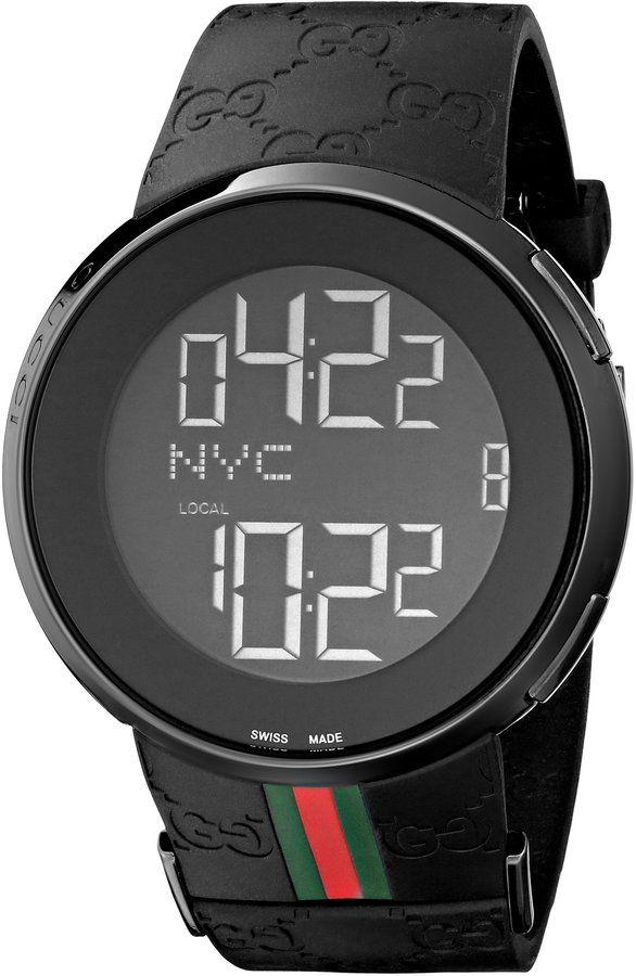 d8a23f92f Gucci Men's I-Gucci Watch Black YA114207   Watches   Reloj, Gucci ...