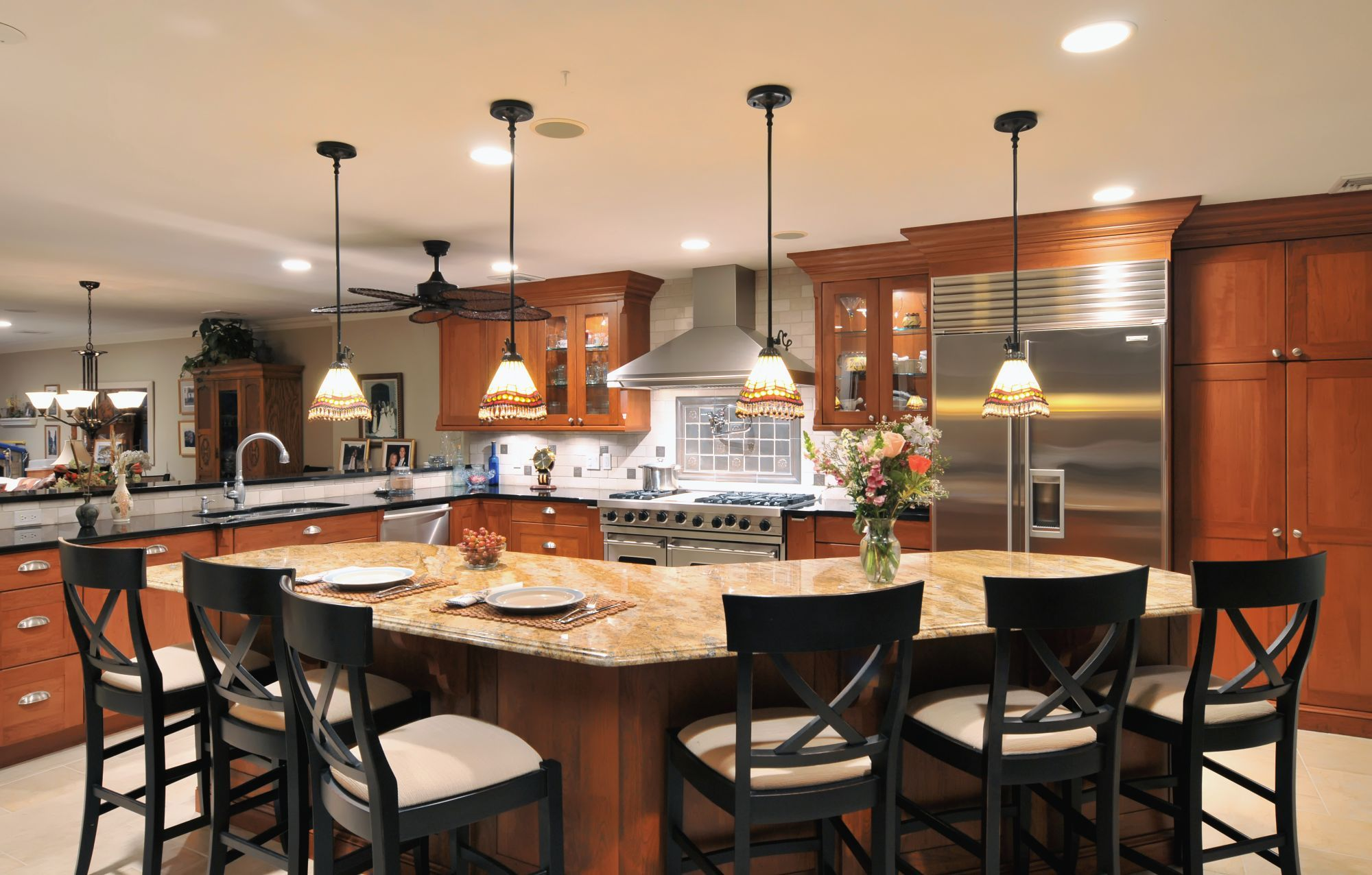 extra long v shaped island 150 as opposed to a more typical 78 96 now the couple s 9 on kitchen island ideas v shape id=16419