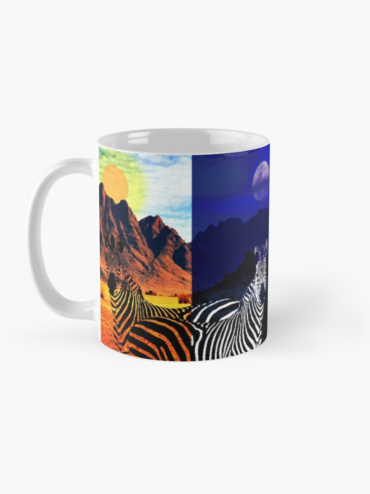 Taza 'Day and Night Desdoblamiento del tiempo Zebras
