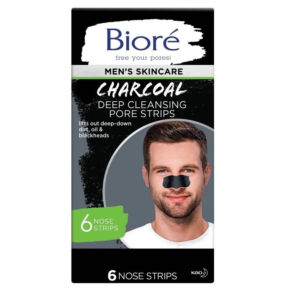 Biore Men S Charcoal Deep Cleansing Pore Strips 6ct Pore