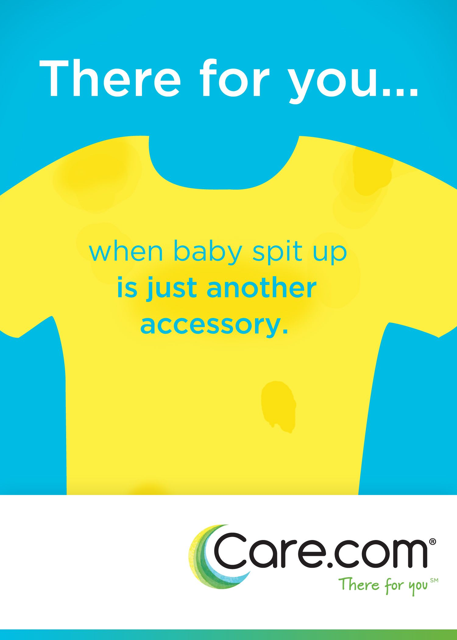 Baby spit up? Goes with everything. #careatcare #nobiggie