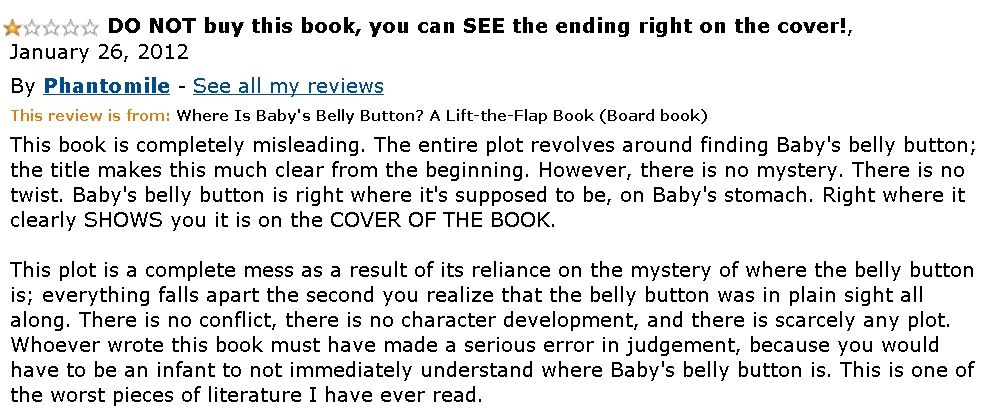 "Review for ""Where is Baby's Bellybutton?"""