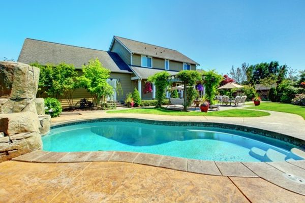 101 Bilder von Pool im Garten - pool im garten sonnig natur - moderne gartengestaltung mit pool