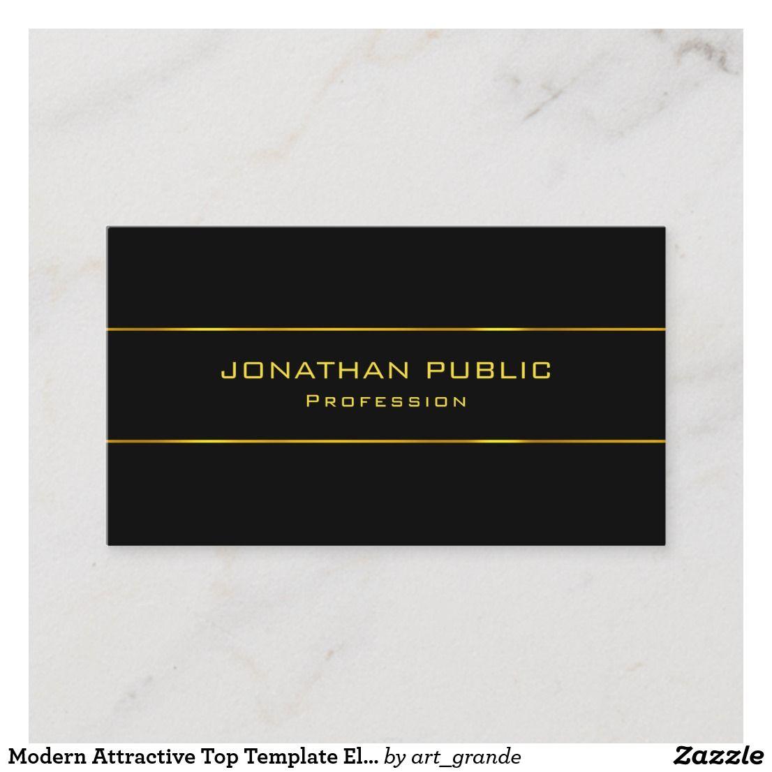 Modern Attractive Top Template Elegant Black Gold Business