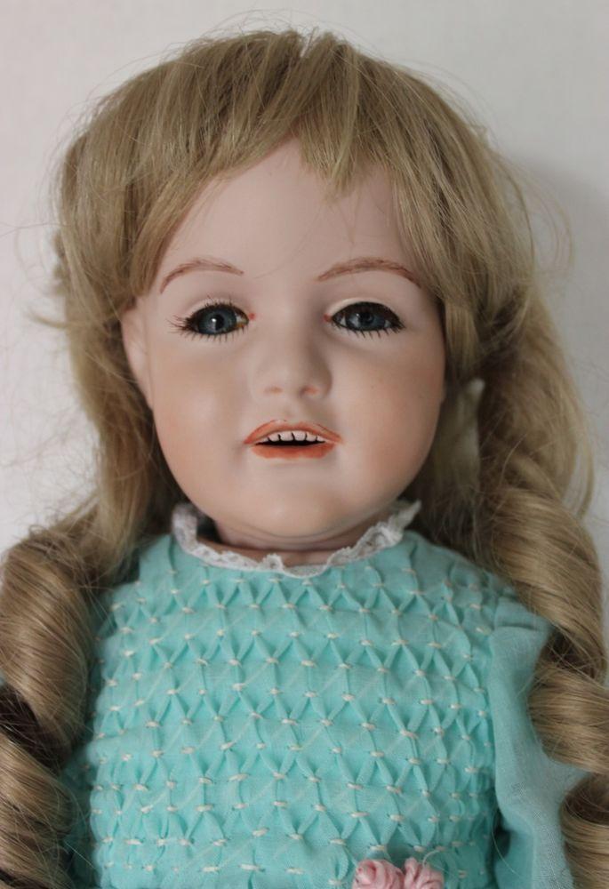"""Large 23"""" Antique Reproduction JDK Kestner Artist Design Bisque Porcelain Doll #GermanReproduction"""