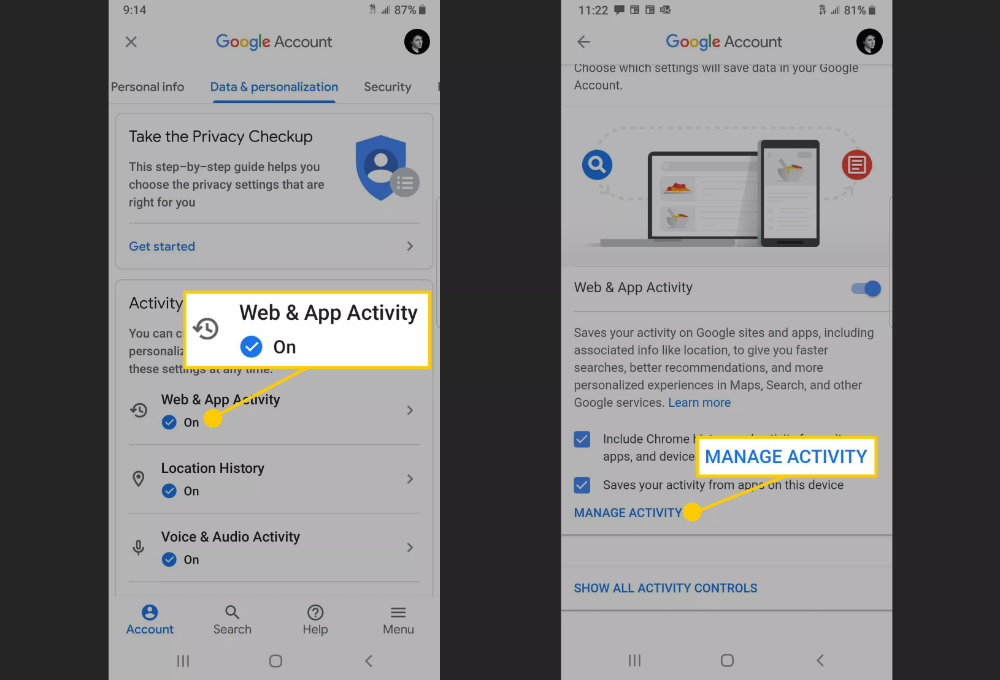 Automatically Delete Google Location History and Other