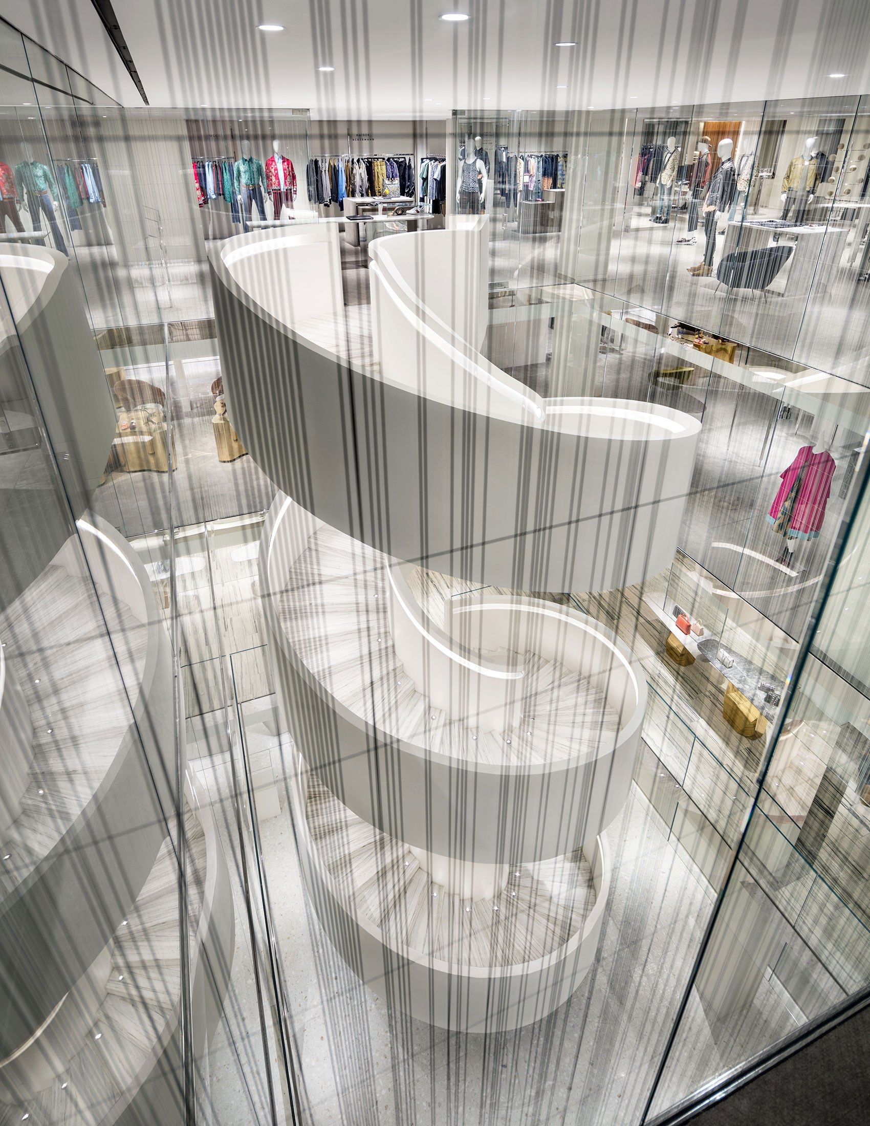 Inside The Design Of Barneys New York S Groundbreaking Downtown Flagship New Downtown Stairs Design Inside Design