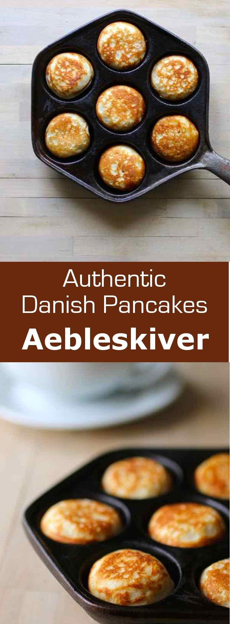 Photo of Aebleskiver are traditional Danish pancakes that are cooked in a special stoveto…
