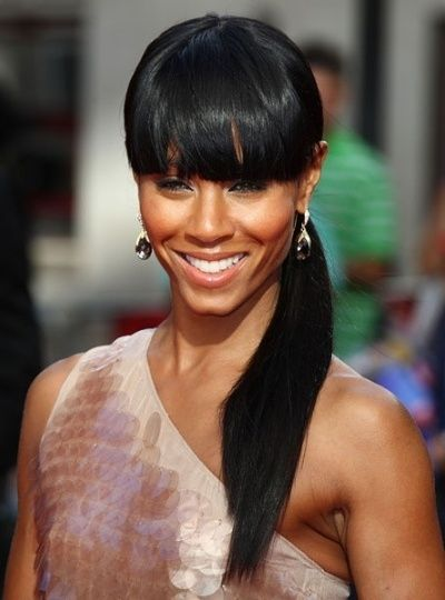 Black Ponytail Hairstyles cool ideas for cute ponytail hairstyles for black hair Black Hair Black Ponytail Hairstyle With Bangs