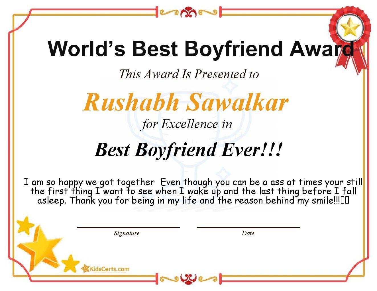 World S Best Boyfriend Award Best Boyfriend Ever Best Boyfriend Ever Best Boyfriend Award Best Boyfriend